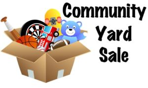 Community Yard Sale 2016 flyer for booth space
